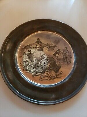 The Kirk COLLECTION STERLING SILVER COLLECTIBLE PLATE THANKSGIVING 1972