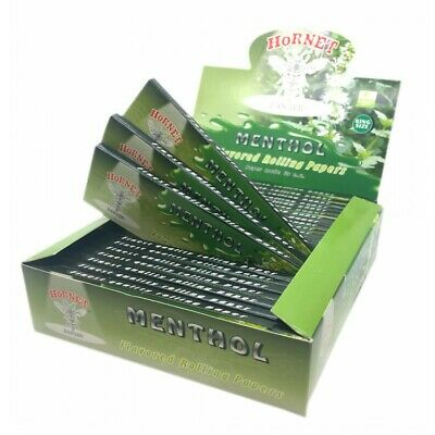 Hornet - Menthol Mint Flavour King Size Slim Smoking Rolling Papers Juicy Jays