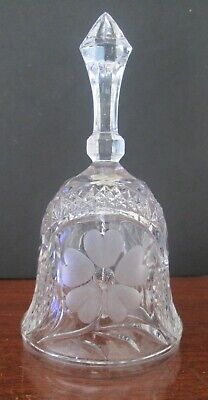 Clear Crystal Cut Glass Bell