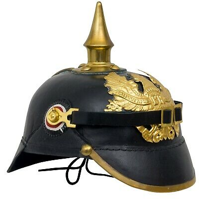 Spiked helmet Germany Prussia Bavaria imperial eagle metal antique style 25cm