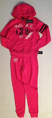 Ralph Lauren Girls Pink Tracksuit  Xl(16)** Rrp £139 Now £49.50 Each