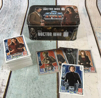 Dr Who Alien Attax Trading Card Game and Storage Tin