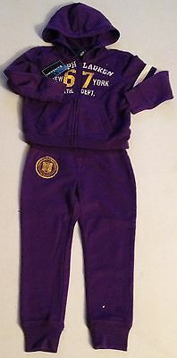 Ralph Lauren Girls Purple Tracksuit S (7) Xl(16)** Rrp £139 Now £49.50 Each