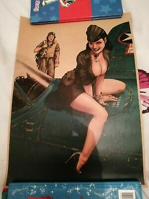 World War 2 Sexy Girl Kraft Paper Poster