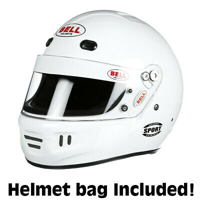 Bell Sport Racing Helmet Medium White SA2015  +IN STOCK, SHIPS NOW+