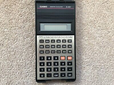 Casio Fx-82C Calculator Retro Vintage Rare With Hard Flip Case