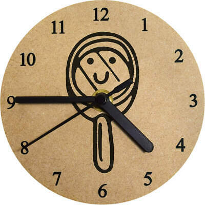 130mm 'Magnifying Glass' Small Wooden Clock (CK00022587)
