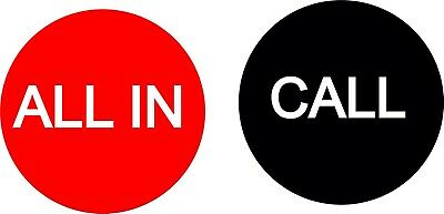 All In / Call 2.5 Inch Button USA Seller Free Shipping