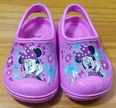 Pink Disney Minnie Mouse Crocs Clog Sandals Toddler Size Small 5/6