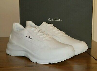 Paul Smith Explorer Leather Trainers White - Size UK 9 EU 43 RRP £350