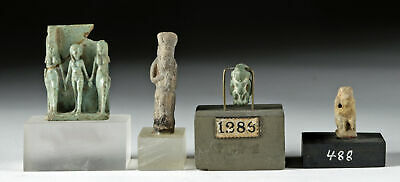 Lot of 4 Egyptian Faience Amulets