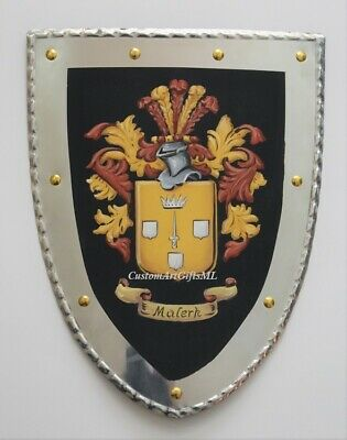 SALE Custom knight shield | Coat of Arms shield, 10 x 13 inch medieval shield