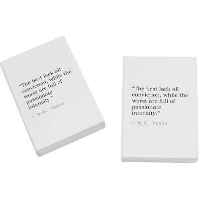 2 x 45mm Quote By W.B. Yeats Erasers / Rubbers (ER00019567)
