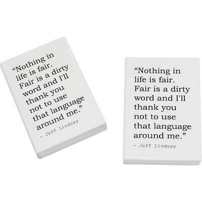 2 x 45mm Quote By Jeff Lindsay Erasers / Rubbers (ER00009693)