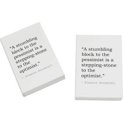 2 x 45mm Quote By Eleanor Roosevelt Erasers / Rubbers (ER00012527)