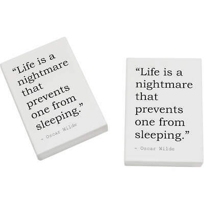 2 x 45mm Quote By Oscar Wilde Erasers / Rubbers (ER00015728)