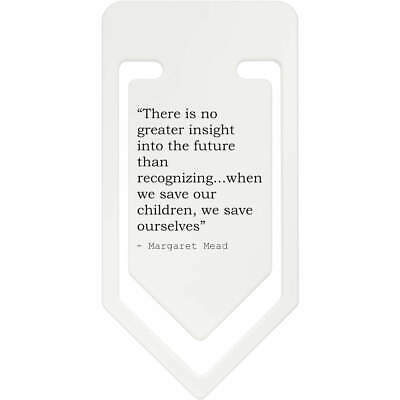 Inspirational Quote By Margaret Mead Plastic Paper Clip (CC045249)