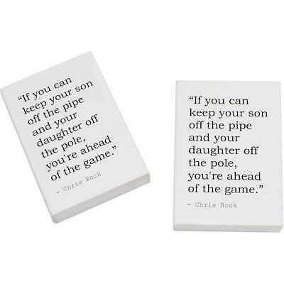 2 x 45mm Quote By Chris Rock Erasers / Rubbers (ER00017442)