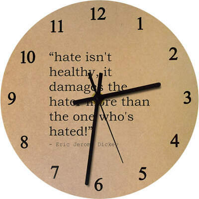 275mm Quote By Eric Jerome Dickey Large Wooden Clock (CK00017984)