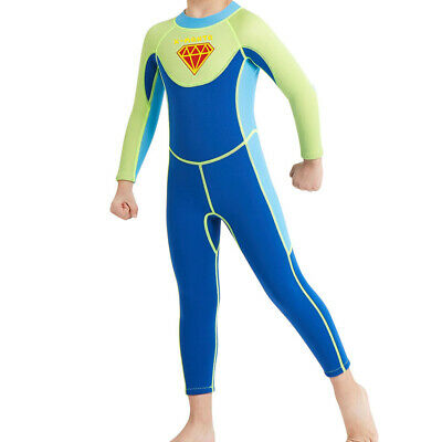Kids Wetsuit Thermal Swimsuit Long Sleeve One Piece Water Suits Full Wetsuit