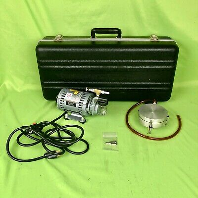 GRASEBY SINGLE STAGE N6 MICROBIAL PARTICLE SAMPLER KIT w/ GAST COMPRESSOR PUMP