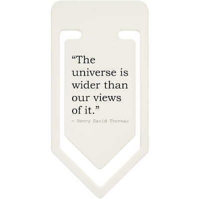 Quote By Henry David Thoreau Plastic Paper Clip (CC050264)