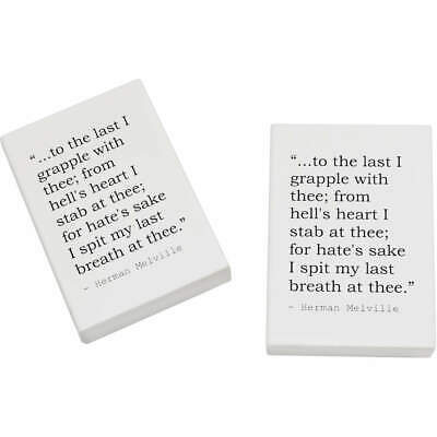 2 x 45mm Quote By Herman Melville Erasers / Rubbers (ER00015862)