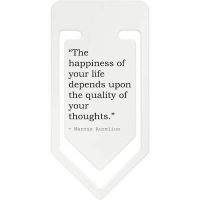 Happiness Quote By Marcus Aurelius Plastic Paper Clip (CC064212)