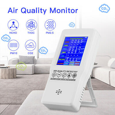 Air Quality Monitor HCHO CO2 Analyzer Detector for Bedroom Indoor Color Screen