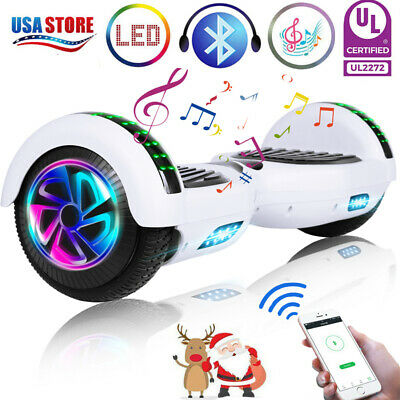 """6.5"""" Bluetooth Hoverboard LED Self-Balancing Scooter UL2272 no Bag US Best Gift"""