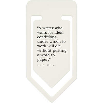 Quote By E.B. White Plastic Paper Clip (CC068951)