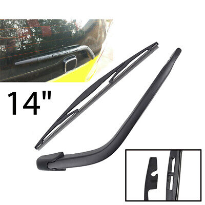Rear Wiper Arm and Blade Set for Honda Fit//Jazz 2004-2008 Back windshield Wiper Arm Blades Replace OE 76720-SAA-004