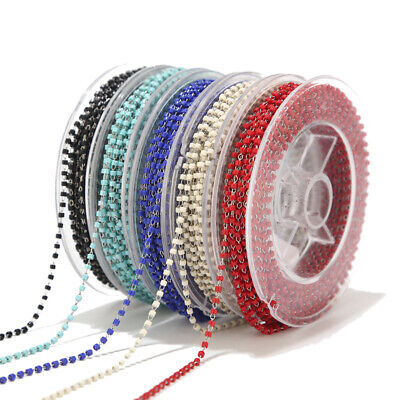 Stainless Steel Cable Link Chain Roll with Glass beads Bulk for Jewelry Making