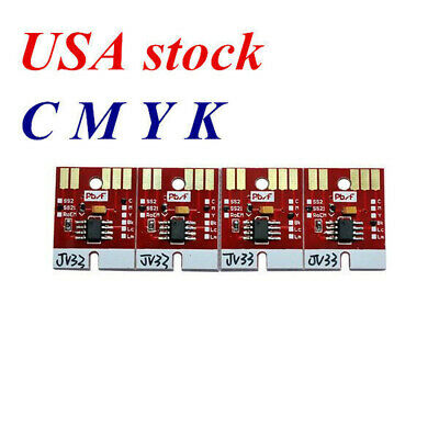 US Stock-Chip Permanent for Mimaki JV33 SS21 Cartridge 4 Colors CMYK