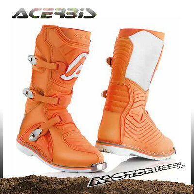 Stivali Off-Road Cross Acerbis X-Kid Junior Bambino Arancio Taglia 35