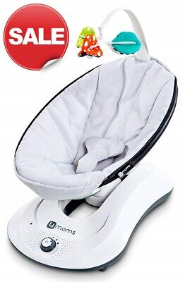4Moms RockaRoo Infant Baby Compact Gliding Motion Swing Glider Classic Grey