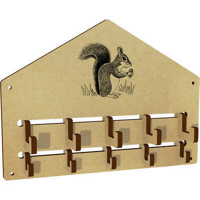 'Squirrel With Acorn' Wall Mounted Coat Hooks / Rack (WH00032082)