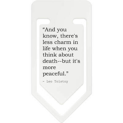 Death Quote By Leo Tolstoy Plastic Paper Clip (CC074800)