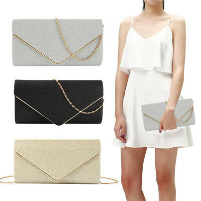 Women Glitter Clutch Bag Ladies Handbag Evening Bridal Wedding Party Prom Bags
