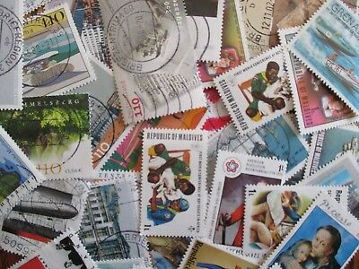 Henry's Stamps - 100 Different Worldwide - Large/Med Format - Used/Off Paper-