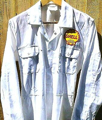 """Goodwood Revival Vintage Retro 100% Cotton Shell Badged Overalls L 44-46"""" Chest"""