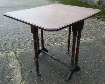 Small Victorian Mahogany Sutherland Gate Leg Table  DELIVERY POSSIBLE