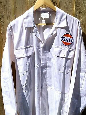 """Goodwood Revival Vintage Retro 100% Cotton Gulf Badged Overalls XL 48-50"""" Chest"""