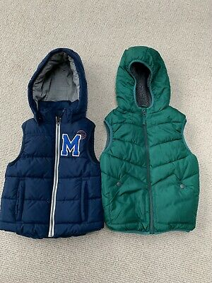 1 X M&S and 1 X H&M Girls/ Boys Body Warmers / Gilet Age 6-7 years (Hardly Worn)