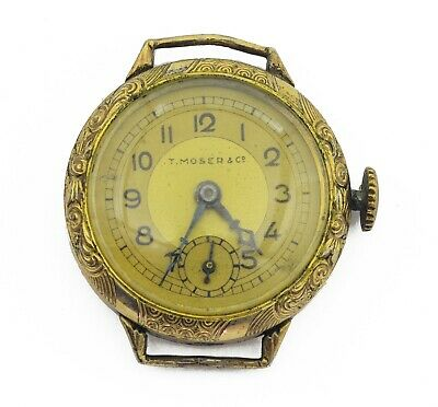 Vintage Germany Wristwatch T. Moser & Cie gold plated Mechanical ladies watch