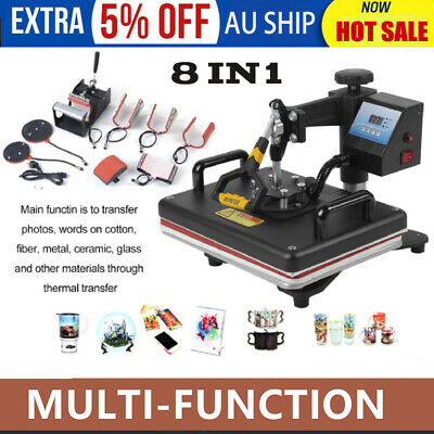 Professional 8IN1 Multi-Function Digital Transfer Sublimation Heat Press a#