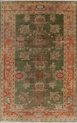 Oushak Oriental Area Rug Wool Hand-Knotted Antique Look GREEN Egyptian  6 x 9
