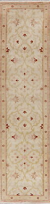 Antique Look Egyptian OUSHAK Oriental 10 ft Runner Rug Wool Hand-Knotted 3'x10'