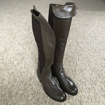 Riva Brown Leather Knee / Over Knee High Boots UK4