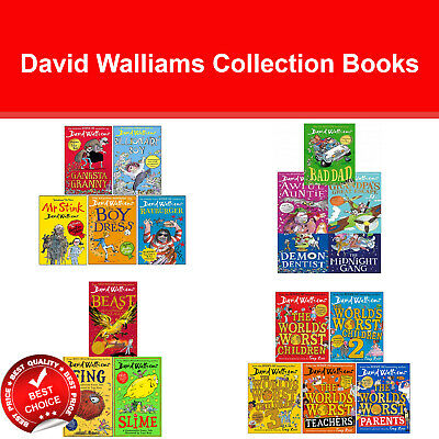 David Walliams Collection Books Set Gangsta Granny, Mr Stink, Billionaire NEW